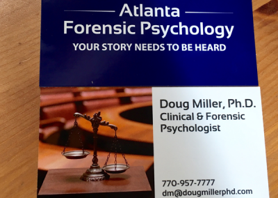 Atlanta Forensic Psychology Business Cards